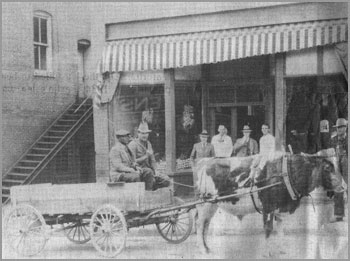 "Dick Grier's Grocery promised ""delivery service anywhere in the city limits within three minutes, day or night. Day phone 89. Night phone 129.""  Photo courtesy of the Elkin Historical Collection and the Surry County Historical Society"